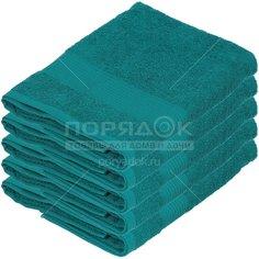 Полотенце банное, 70х140 см, Вышневолоцкий текстиль, 375 г/кв.м, бордюр, лазурное 635 Россия