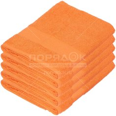 Полотенце банное, 70х140 см, Вышневолоцкий текстиль, 375 г/кв.м, оранжевое 302 Россия