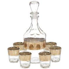 Набор для спиртного Декостек, 7 предметов (штоф, стопка 6 шт), Империя 1230-ГНМ