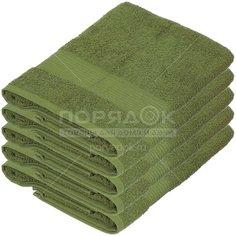 Полотенце банное, 50х90 см, Вышневолоцкий текстиль, 375 г/кв.м, хаки 513 Россия