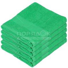 Полотенце банное, 70х140 см, Вышневолоцкий текстиль, 375 г/кв.м, бордюр, зеленое 523 Россия