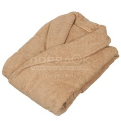 Халат махровый женский бежевый, р. 50 Вышневолоцкий текстиль