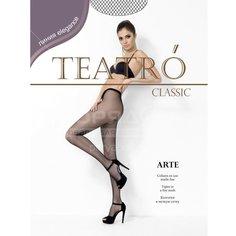 Колготки Teatro Arte микро-сетка nero, р. 1-2