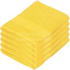 Полотенце банное, 50х90 см, Вышневолоцкий текстиль, 375 г/кв.м, желтое 401 Россия