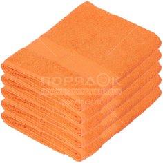 Полотенце банное, 50х90 см, Вышневолоцкий текстиль, 375 г/кв.м, оранжевое 302 Россия