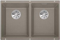 Кухонная мойка Blanco Subline 350/350-U InFino серый беж 523581