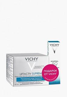 Набор для ухода за лицом Vichy LIFTACTIV SUPREME Крем против морщин и для упругости нормальной и комбинированной кожи, 50 мл + MINERAL 89 восстанавливающего и укрепляющего ухода для кожи вокруг глаз, 10 мл - В ПОДАРОК