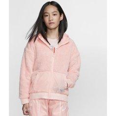 Куртка из материала Sherpa для девочек школьного возраста Nike Sportswear
