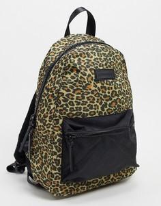 Рюкзак с леопардовым принтом и карманом спереди Consigned-Мульти