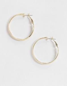 Золотистые массивные серьги-кольца Vero Moda-Золотой