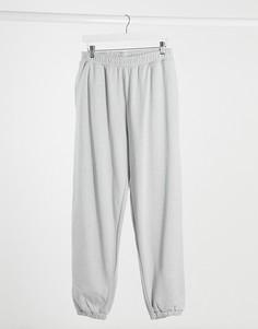 Серые меланжевые джоггеры в стиле oversized для дома от комплекта ASOS DESIGN-Серый