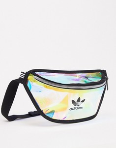 Прозрачная миниатюрнаясумка-кошелек на пояс adidas Originals-Мульти