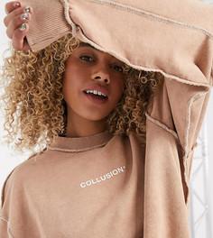 Светло-коричневый свитшот COLLUSION Unisex