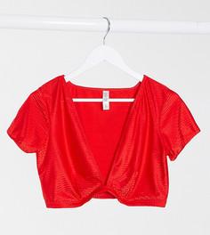 Эксклюзивная футболка Wolf & Whistle Curve-Красный