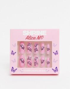 Накладные ногти с рисунком бабочекShrine X Alice MC-Мульти