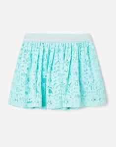 Голубая кружевная юбка для девочки Gloria Jeans