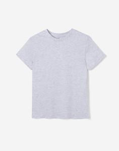 Серая базовая футболка для мальчика Gloria Jeans