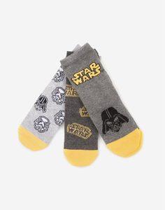 Комплект носков с принтом STAR WARS для мальчика Gloria Jeans