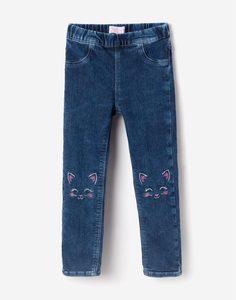 Джеггинсы с вышивкой для девочки Gloria Jeans