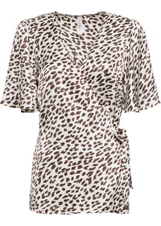 Блузки с коротким рукавом Блузка с запахом Bonprix