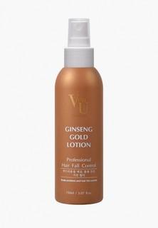 Лосьон для волос Von U для роста волос с экстрактом золотого женьшеня