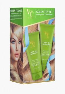Набор для ухода за волосами Von U Von-U шампунь 200 мл + кондиционер 200 мл с зеленым чаем