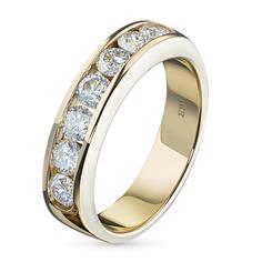 Кольцо из желтого золота с бриллиантом э0301кц08188600 ЭПЛ Якутские Бриллианты
