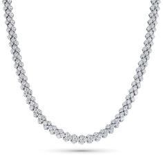 Колье из белого золота с бриллиантом э0901кл01160500 ЭПЛ Якутские Бриллианты