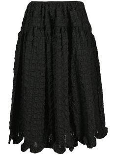 Cecilie Bahnsen стеганая юбка миди А-силуэта