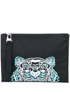 Kenzo клатч с вышитым логотипом