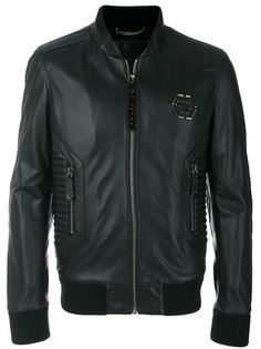 Philipp Plein куртка-бомбер в байкерском стиле