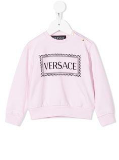 Young Versace футболка с круглым вырезом и логотипом