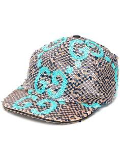 Gucci кепка с пайетками и логотипом GG