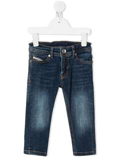 Diesel Kids джинсы кроя слим с эффектом потертости