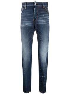 Dsquared2 джинсы кроя слим с эффектом потертости