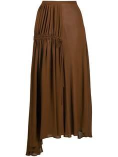 Nº21 плиссированная юбка асимметричного кроя