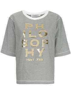 Philosophy Di Lorenzo Serafini футболка с логотипом и пайетками