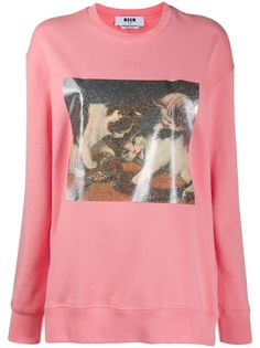 MSGM cat-print sweatshirt