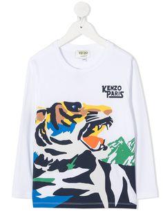 Kenzo Kids футболка Tiger с длинными рукавами