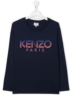 Kenzo Kids футболка с графичным принтом