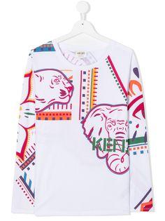 Kenzo Kids футболка с графичным принтом Mini Me