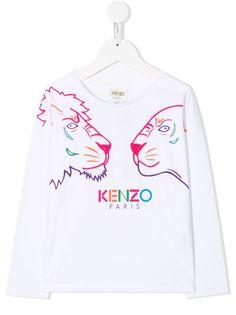 Kenzo Kids футболка с принтом Tiger Friends