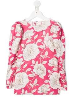 Monnalisa блузка с цветочным принтом