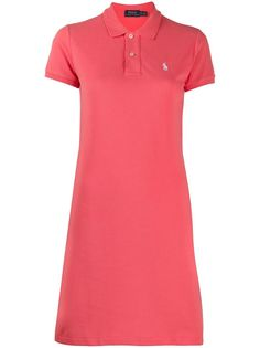 Polo Ralph Lauren платье с воротником поло и логотипом