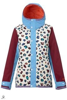 Куртка для сноуборда Burton 16-17 W TWC Yea Jk Rainbw Cheeta Clrbk - XS