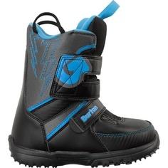 Ботинки сноубордические Burton 14-15 Grom Youth Black/Gray/Blue - 30,5 EUR