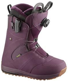 Ботинки сноубордические Salomon 17-18 Ivy BOA Bordeaux - 38,5 EUR
