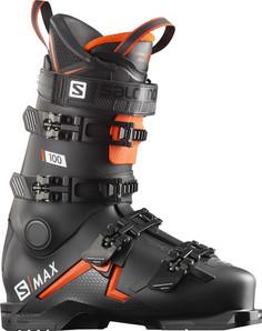 Ботинки горнолыжные Salomon 19-20 S/Max 100 Black/Orange - 26,0/26,5 см