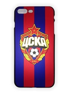 Клип-кейс для iPhone 7 Plus с объемной эмблемой ПФК ЦСКА, цвет красно-синий