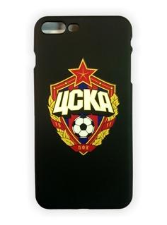Клип-кейс для iPhone 7 Plus с объемной эмблемой ПФК ЦСКА, цвет чёрный